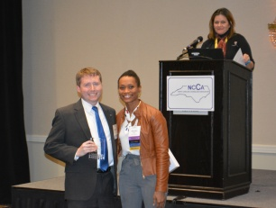 Stephen Kennedy and NCCA President Shenika Jones