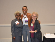 NCCA President Shenika Jones with Phyllis Post and Marjorie Locke