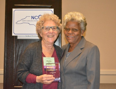 Phyllis Post with Marjorie Locke - Don C Locke Multicultural & Social Justice Award